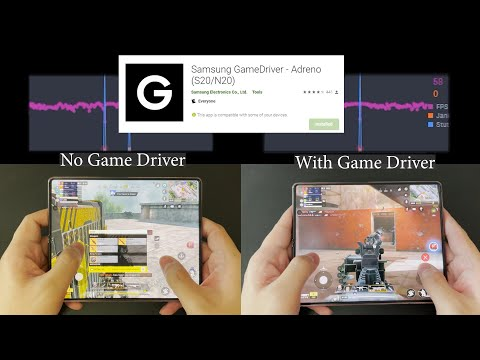 Samsung Game Driver Tested! Better Gaming Performance? S20 Note 20 Z Fold 2