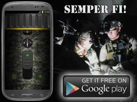 Free MILITARY FLASHLIGHT Android App