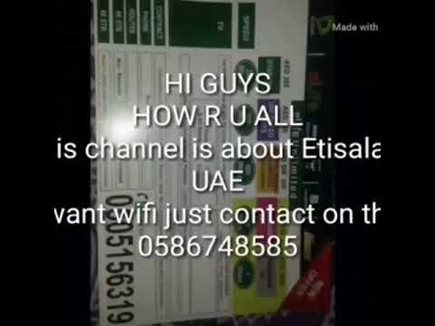 Etisalat free wifi connection....no cash....no deposit...free service....no hiden charges 0586748585