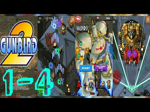 GUNBIRD 2classic | LVL 1-4 [ Android ] Gameplay Walkthrough and showing some of the game's features
