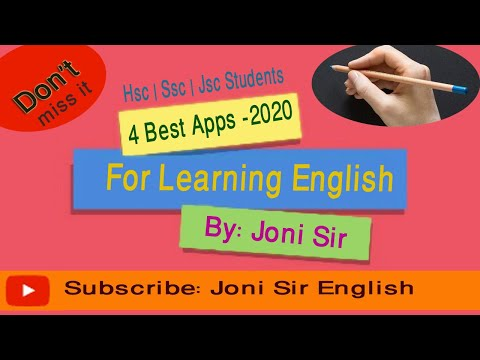 4 best Educational Apps - 2020 | English learning | HSC | SSC | JSc by Joni Sir
