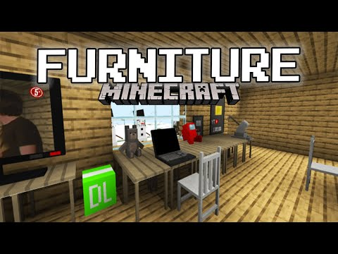 Minecraft: Top 3 FURNITURE and DECORATION add-on for Minecraft Pe