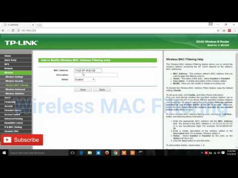 How To Block Wifi Router Client    WINDOWS  TPLINK ROUTER