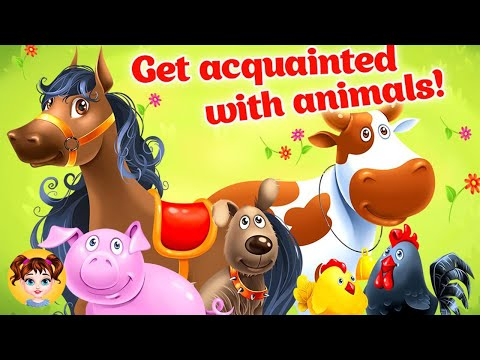 Animal Farm For Kids Toddler Games - Learning Animals
