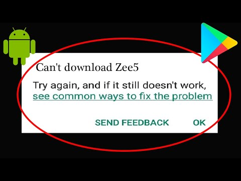 How to Fix Can't Install Zee5 Apps Error In Google Playstore Android & ios