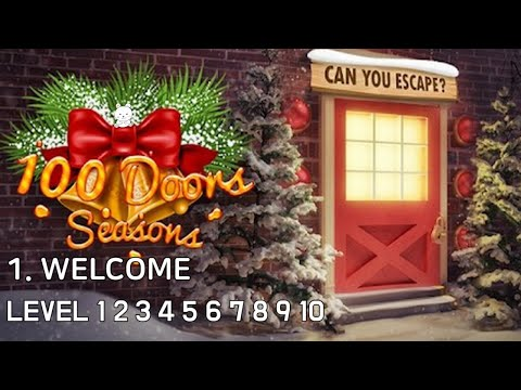 100 Doors Seasons Level 1 2 3 4 5 6 7 8 9 10 Walkthrough - 1. Welcome (Bonbeart Games)