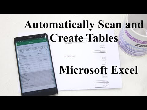 Cool Microsoft Excel Feature: Automatically Scan and Create Tables