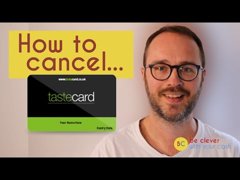 How to cancel a Tastecard (2021) Step-by-step