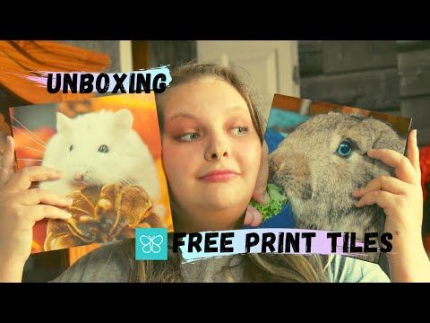 UNBOXING My New Free Print Photo Tiles!