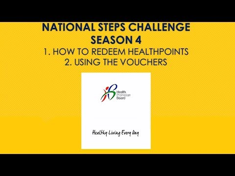 Health Promotion Board Steps Challenge : Redeem points & Use vouchers