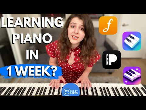 Learning Piano in 1 Week -- Aubrey Puts 5 Apps to the Test! [HONEST REVIEW]