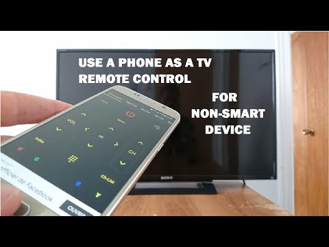 How to use a Smartphone as a remote control for NON-SMART TV
