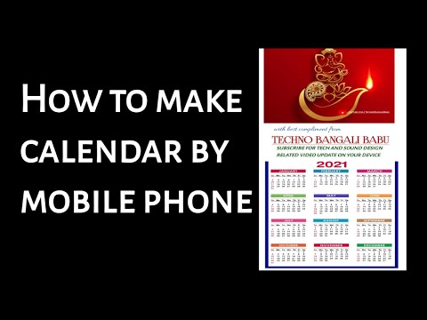 How to make a calendar using mobile Phone. Making 2021calender design by pixellab