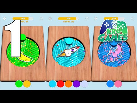 Sorting Beads: Stencil Fill Gameplay Walkthrough #1 (Android, IOS)