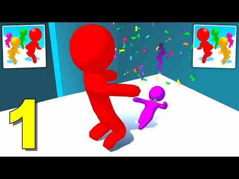 Color Run Stickman 3D - Gameplay (Android) Walkthrough 1 - 20 Levels