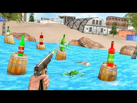 Real Bottle Shooting Game Free Android Gameplay | Level 1 To 15 |