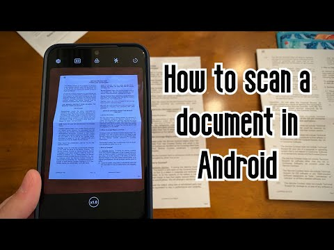 How to scan a document in Android