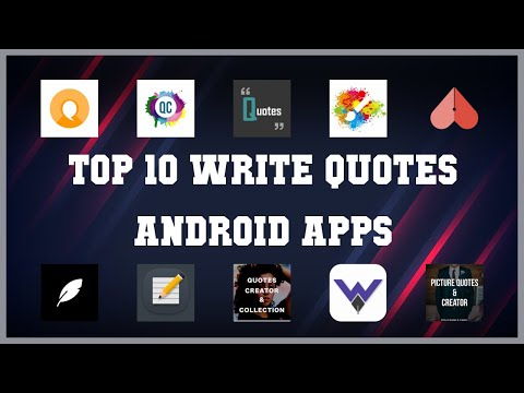 Top 10 Write Quotes Android App | Review