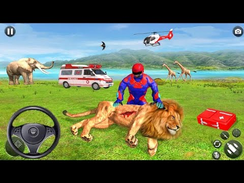 Animals Ambulance Robot Driver - Light Superhero Speed Hero Rescue Mission - Android Gameplay