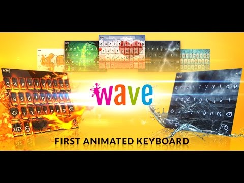 video review of Wave Keyboard Background