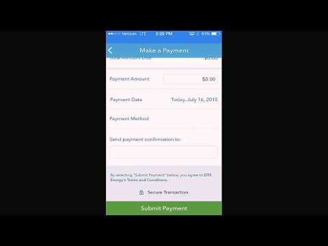 Sign in and Pay with the DTE Energy Mobile App