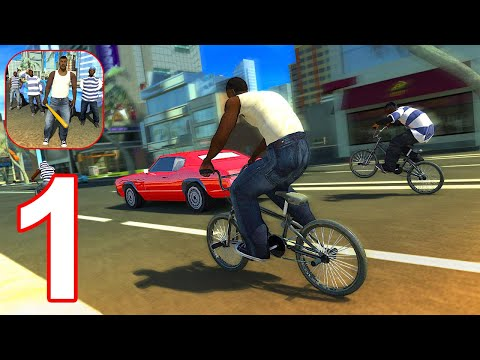 San Andreas Gang Wars - The Real Theft Fight - Gameplay Walkthrough Part 1 (Android, iOS)