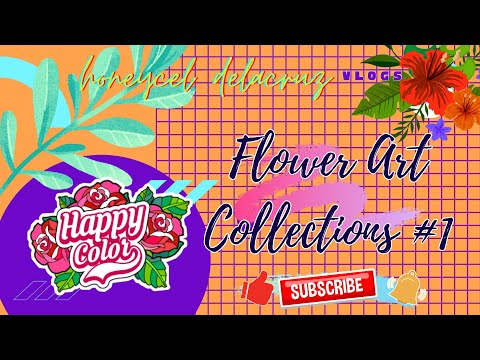 Coloring Beautiful Flower Art -Happy Color Collections Part 1.