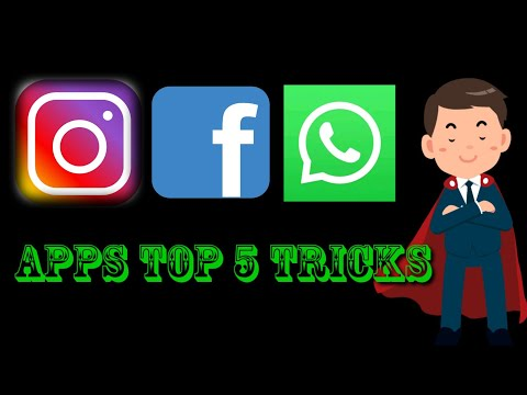 Instagram, What's Up And Facebook Top 5 Tricks