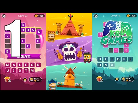 WORD TOWER - Kingdom Gameplay Walkthrough #1 (Android, IOS)