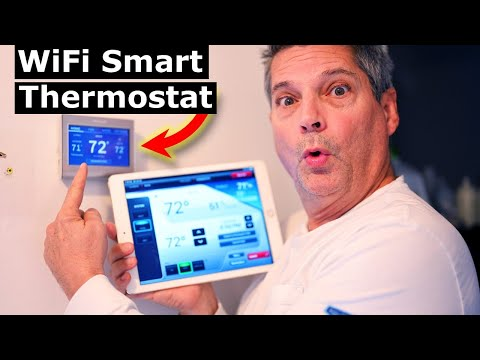 How to Install Smart WiFi Thermostat Honeywell RTH9585WF Wiring
