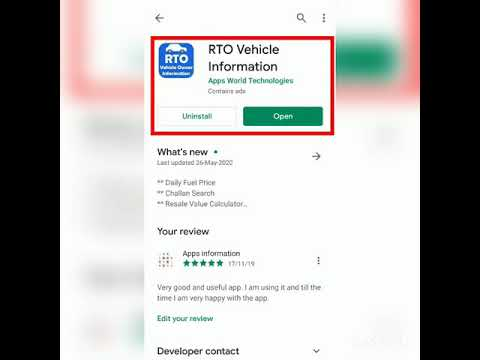 Best RTO Vehicle Informations application in Google play store