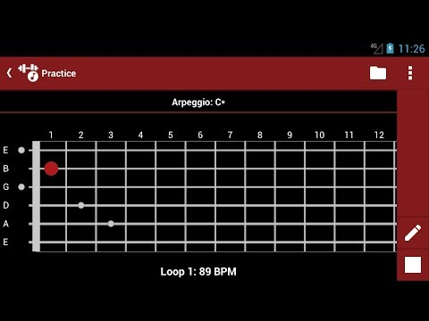 smartChord practice arpeggio pattern and chords