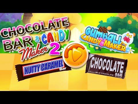 Chocolate Candy Bars Maker & Chewing Gum Games
