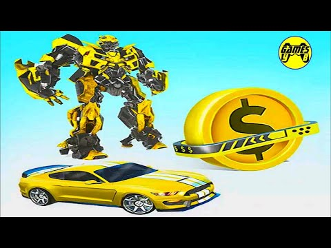 Coin Robot Car Transform: Wars Robot Transformation Game 2021 - Android Gameplay