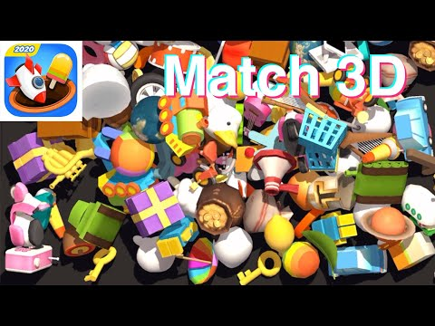 Match 3D🏅Gameplay Level 1-4 (iOS, Android) by Loop Games | Made in Unity