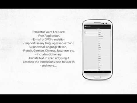 Free Voice Translator Pro for android smartphones