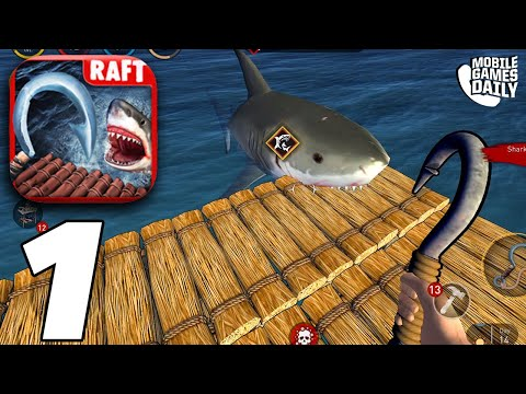 RAFT SURVIVAL OCEAN NOMAD - Building A Shelter - Gameplay Walkthrough Part 1 (iOS, Android)