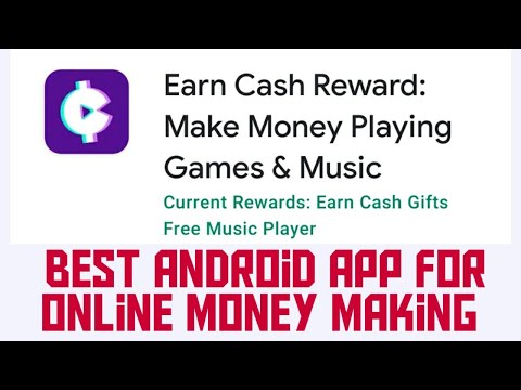 Earn Cash Reward: Make Money Playing Games & Music Android App | Work From Home, Data entry Work