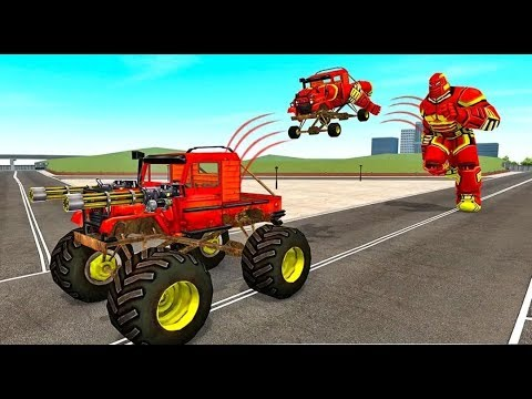 US Army Monster Truck Transform Robot Games - Android Gameplay FullHD