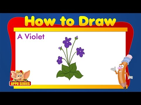 Learn to Draw Flower - Draw a Violet