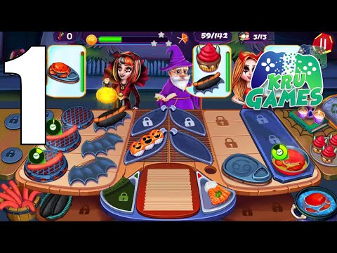 Halloween Cooking: Chef Madness Fever Games Craze Gameplay Walkthrough #1 (Android, IOS)