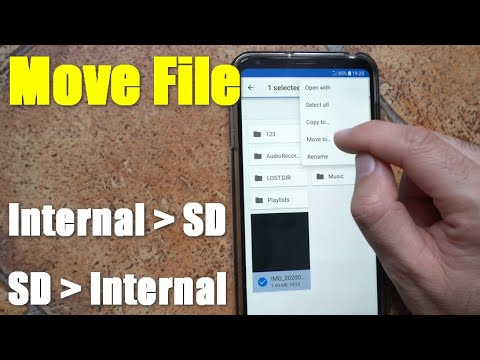 How to move file from Internal Storage to SD card (Android, 2 File Manager apps)
