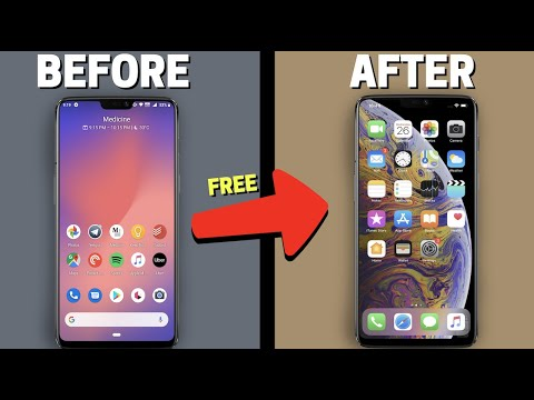 How to Turn Android into an iPhone 12 pro COMPLETELY! (no root)