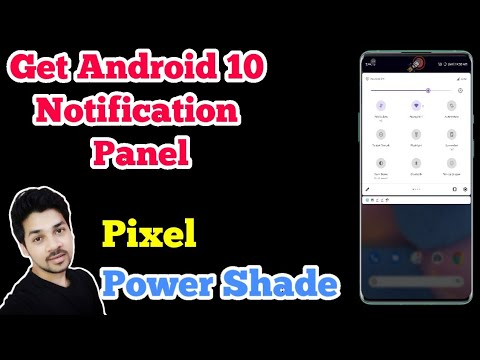 Android 10/11 Notification Panel Any Device || Quick Setting/Power Shade App Tutorial [NO ROOT]