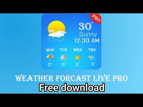 how to download weather forecast pro for free | weather forecast Pro free download | mod apk