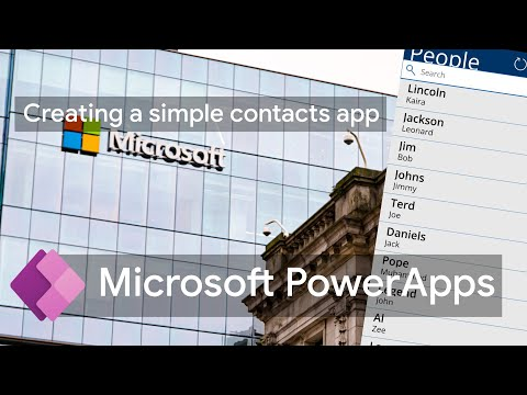 Creating a Simple Contacts App using Excel | Microsoft PowerApps