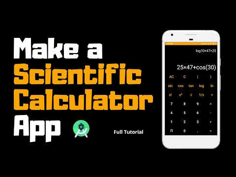 How to make a Scientific Calculator App | Android Project | Android Studio