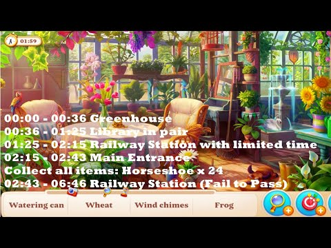 Manor Matters Levels Pass and Fail HD | greenhouse, library in pair, railway station, main entrance