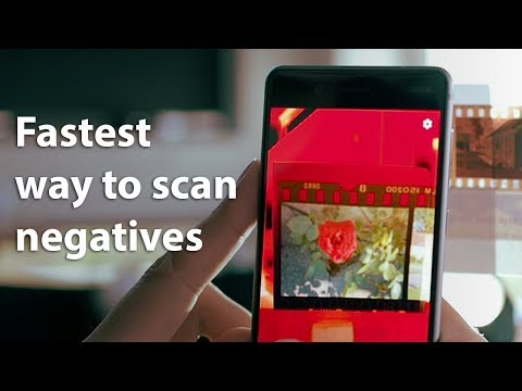 How to start scanning photo negatives with the app
