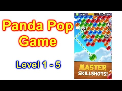 Bubble Shooter: Panda Pop! Game App For Cell Phone Level 1-5